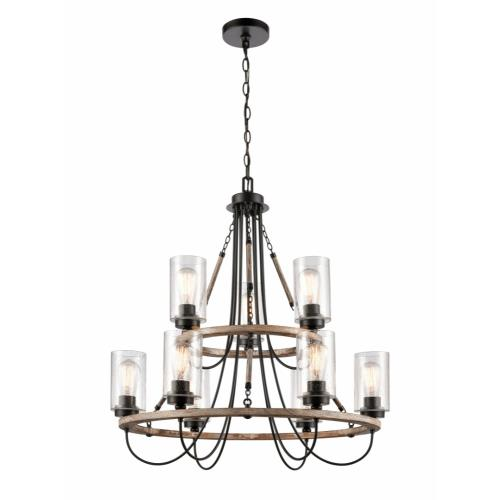 Innovations Lighting 442-9CR-LED Paladin-31.5W 9 LED Chandelier in Farmhouse Style-31.5 Inches Wide by 33.25 Inches High
