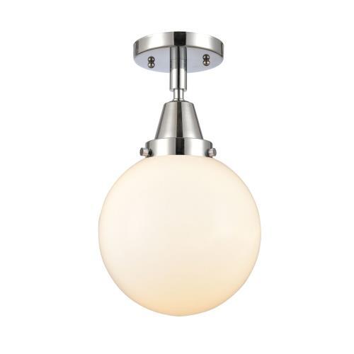 Innovations Lighting 447-1C-8 Beacon-1 Light Flush Mount in Industrial Style