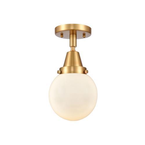 Innovations Lighting 447-1C-6 Beacon-1 Light Flush Mount in Industrial Style