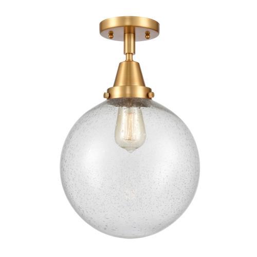 Innovations Lighting 447-1C-10 Beacon-1 Light Flush Mount in Industrial Style