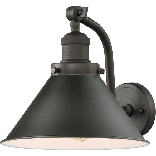 Innovations Lighting 515-1W-M10-LED Briarcliff-3.5W 1 LED Wall Sconce in Traditional Style-8 Inches Wide by 11.5 Inches High