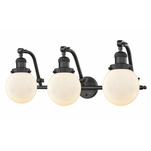 Innovations Lighting 515-3W-G20-6 Beacon-3 Light Bath Vanity in Industrial Style-25.5 Inches Wide by 12 Inches High