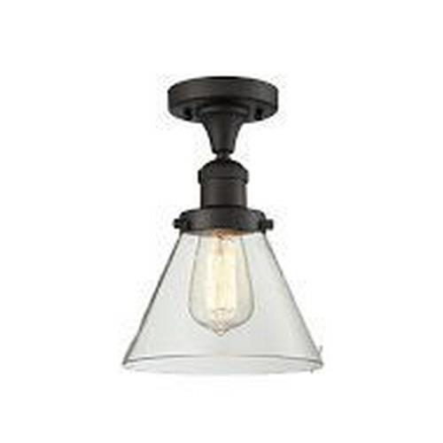 Innovations Lighting 517-1CH-LC Large Cone - One Light Semi-Flush Mount