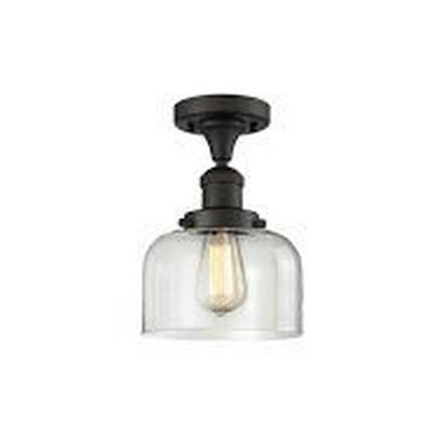 Innovations Lighting 517-1CHG Large Bell-One Light Semi-Flush Mount-8 Inches Wide by 8 Inches High