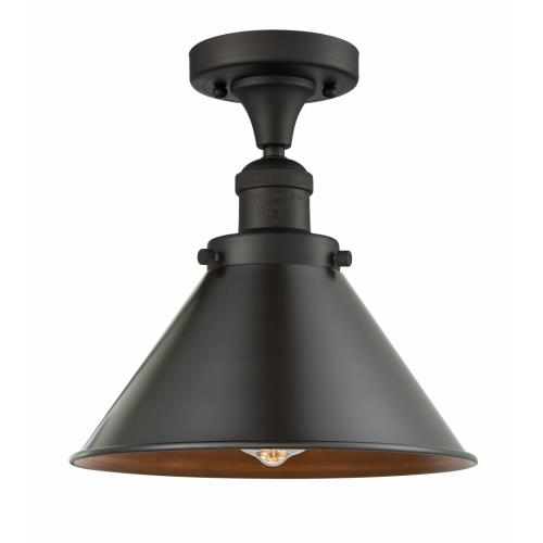 Innovations Lighting 517-1CH-M10 Briarcliff-1 Light Semi-Flush Mount in Traditional Style-10 Inches Wide by 11 Inches High