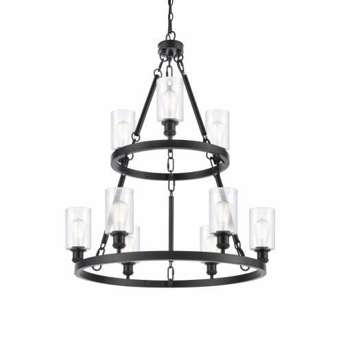 Innovations Lighting 8203-LED Saloon-31.5W 9 LED Chandelier in Industrial Style-39 Inches High