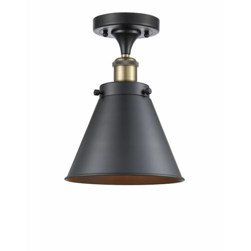 Innovations Lighting 916-1C-M13 Appalachian-1 Light Semi-Flush Mount in Industrial Style-7 Inches Wide by 9.5 Inches High