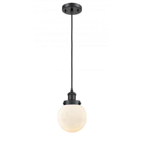 Innovations Lighting 916-1P-G20-6-LED Beacon-3.5W 1 LED Mini Pendant in Modern Contempo Style-6 Inches Wide by 9 Inches High