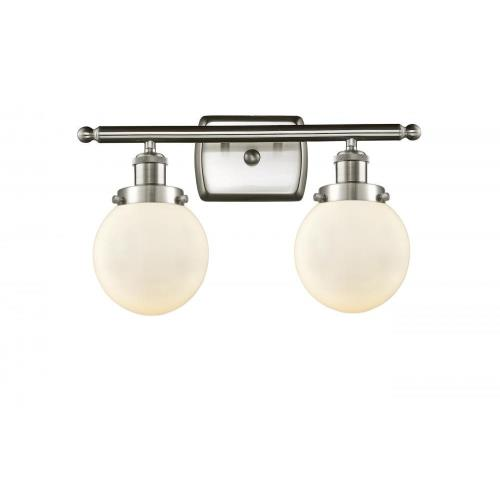 Innovations Lighting 916-2W-G20-6-LED Beacon-7W 2 LED Bath Vanity in Modern Contempo Style-16 Inches Wide by 11 Inches High
