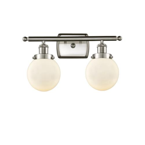 Innovations Lighting 916-2W-G20-6 Beacon-2 Light Bath Vanity in Modern Contempo Style-16 Inches Wide by 11 Inches High