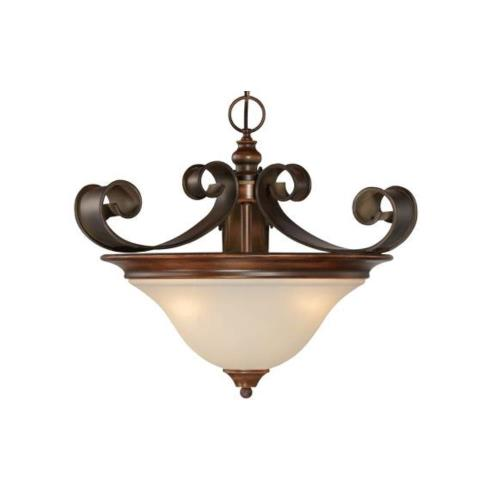 Craftmade Lighting 28053-SPZ Seville - Three Light Convertible Semi-Flush Mount