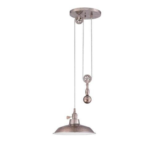 Craftmade Lighting P400 Pulley - One Light Mini Pendant - 11.75 inches wide by 6.88 inches high