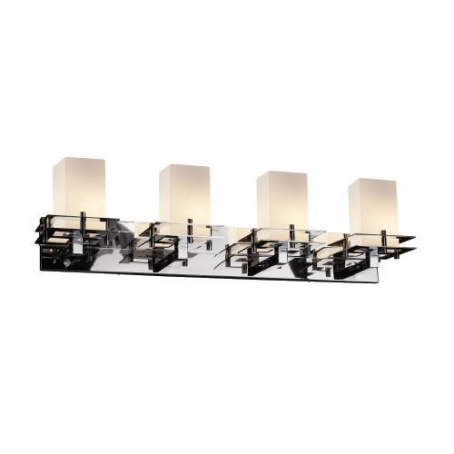 Justice Design FSN-8174-15-OPAL Fusion Metropolis - 4 Light Bath Bar