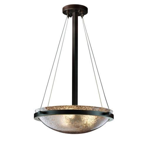 Justice Design FSN-9691-35-MROR Fusion - 3 Light Ring Round Pendant