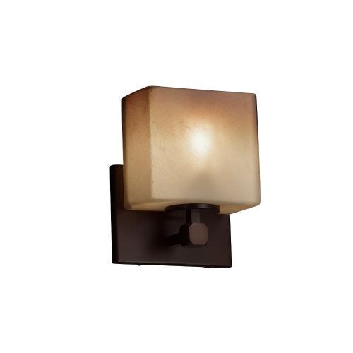 Justice Design FSN-8427-55-CRML Fusion Tetra - 1 Light ADA Wall Sconce with Rectangle Caramel Glass Shade