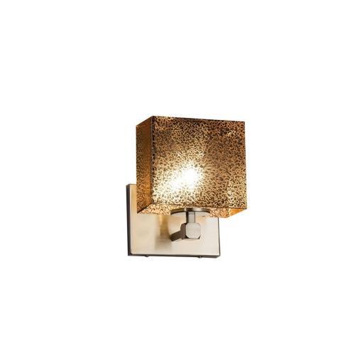 Justice Design FSN-8427-55-MROR Fusion Tetra - 1 Light ADA Wall Sconce with Rectangle Mercury Glass Shade