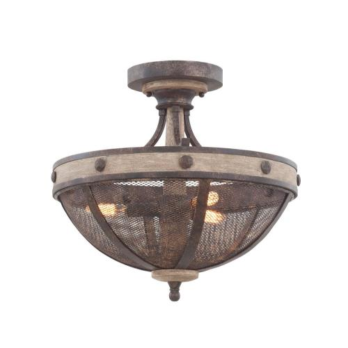 Kalco Lighting 7047FG Coronado - Three Light Semi-Flush Mount