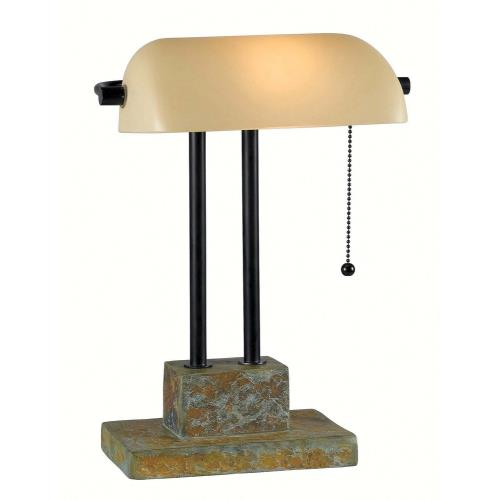 Kenroy Lighting 21041SL Greenville - One Light Banker Lamp