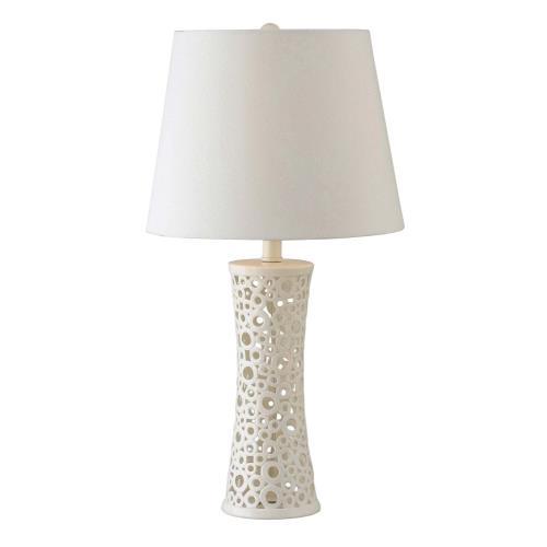 Kenroy Lighting 21056WH Glover - One Light Table Lamp