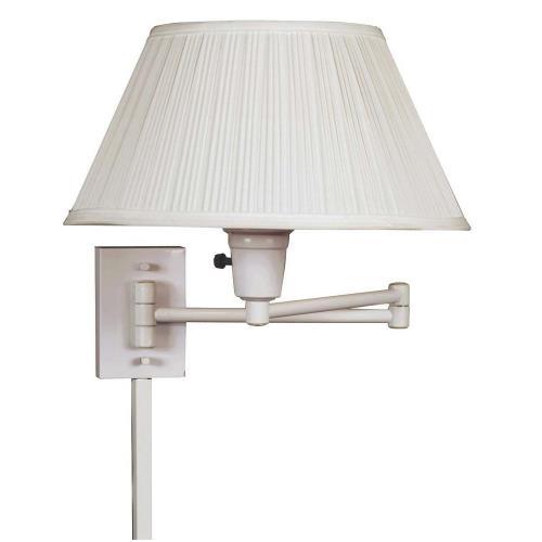 Kenroy Lighting 30110WHWH-1 Simplicity Swing Arm Wall Lamp