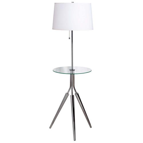 Kenroy Lighting 30510CH Rosie Floor Lamp with Tray