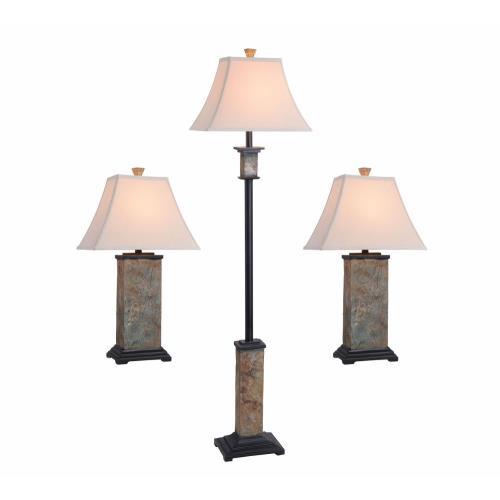 Kenroy Lighting 31207 Bennington 3 Pack Table and Floor Lamp