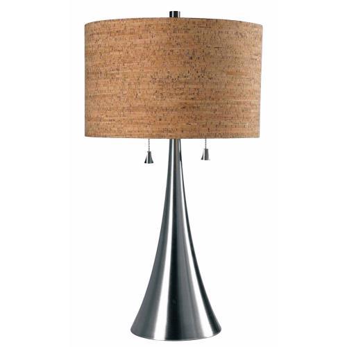 Kenroy Lighting 32092BS Bulletin - Two Light Table Lamp