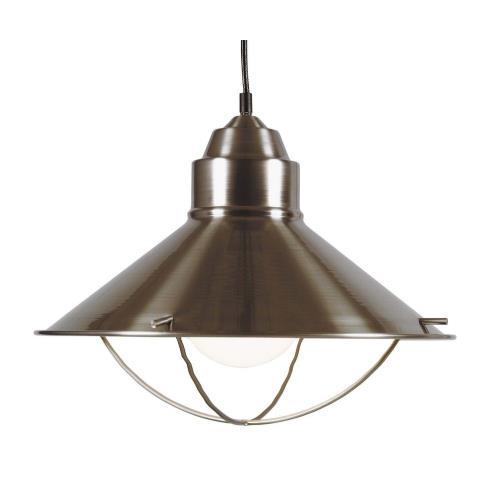 Kenroy Lighting 66349BS Harbour 1 Light Pendant