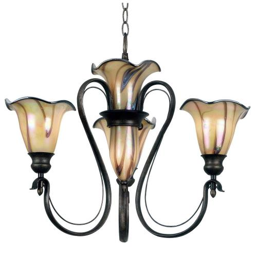 Kenroy Lighting 90895TS Inverness 3+2 Light Chandelier