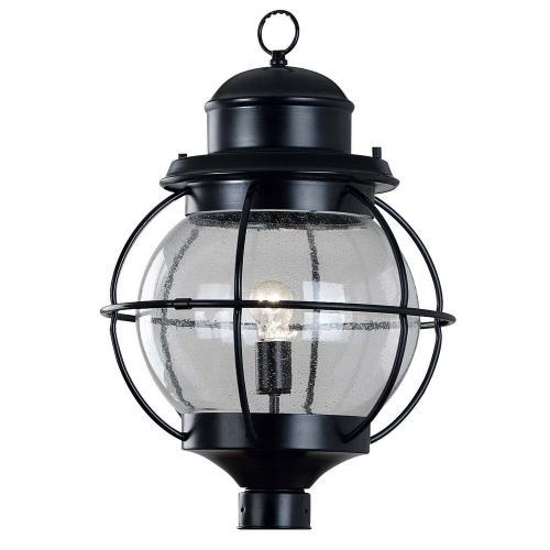 Kenroy Lighting 90967BL Hatteras 1 Light Post Lantern