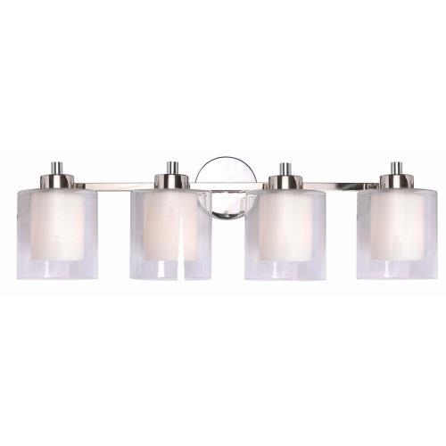 Kenroy Lighting 93494PN Orienta - Four Light Bath Vanity