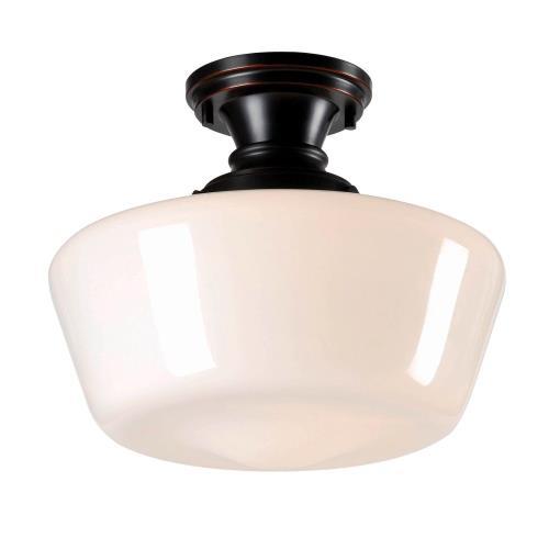 Kenroy Lighting 93660ORB Cambridge - 1 Light Flush Mount