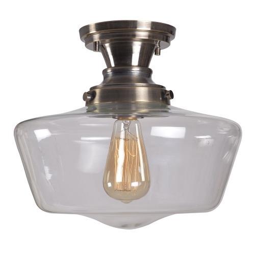 Kenroy Lighting 93660AGM Cambridge - One Light Flush Mount