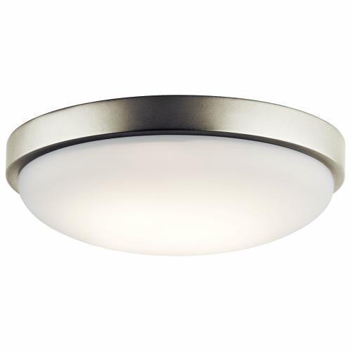 Kichler Lighting 10763NILED 15W 1 LED Flush Mount - with Utilitarian inspirations - 3 inches tall by 11.5 inches wide
