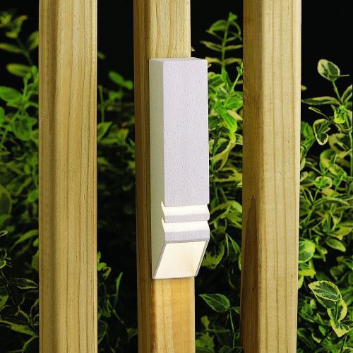Kichler Lighting 15066WHT Low Voltage One Light Deck Rail Fixture