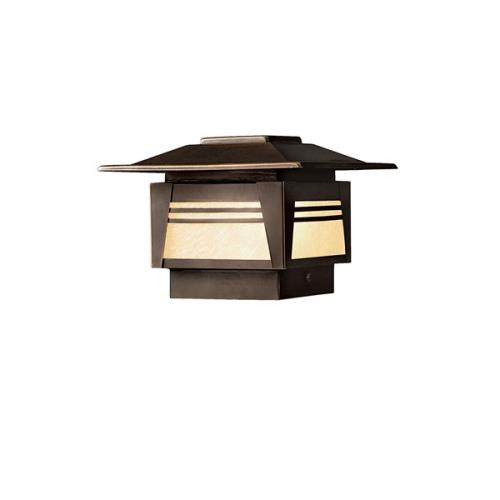 Kichler Lighting 15071OZ Zen Garden - Low Voltage 1 light Deck Post Lamp - 5 inches tall by 7 inches wide