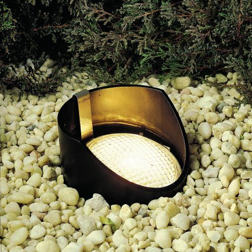 Kichler Lighting 15088BK Low Voltage 1 light In Ground Lamp - with inspirations - 8 inches tall by 5.5 inches wide