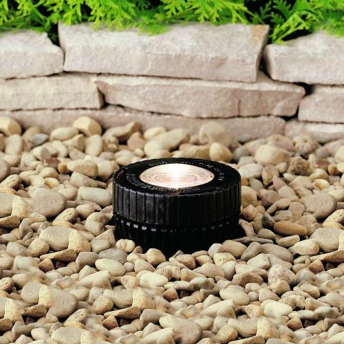 Kichler Lighting 15190BK Low Voltage 1 light In Ground Lamp - with inspirations - 5 inches tall by 4 inches wide