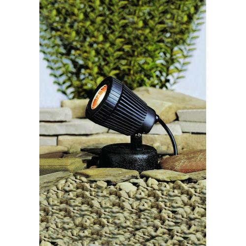 Kichler Lighting 15191BK Low Voltage One Underwater Pond light - with inspirations - 5 inches tall by 4 inches wide