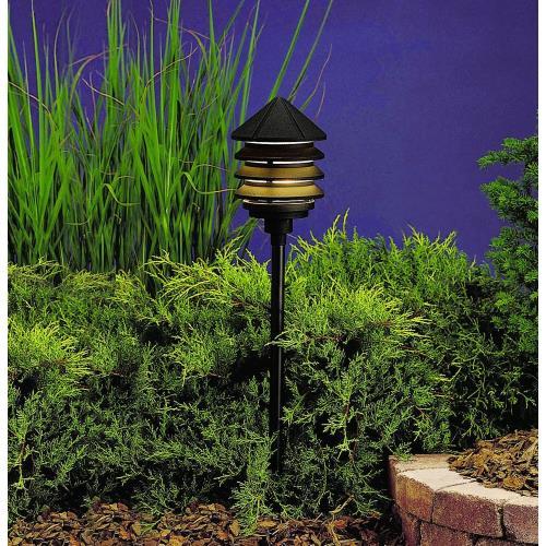 Kichler Lighting 15205BKT Six Groove - Line Voltage One Light Path Lamp