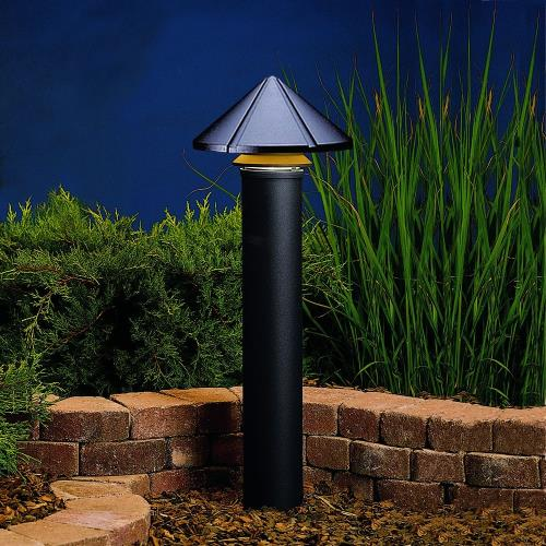 Kichler Lighting 15211BKT Six Groove - Line Voltage One Light Path Lamp