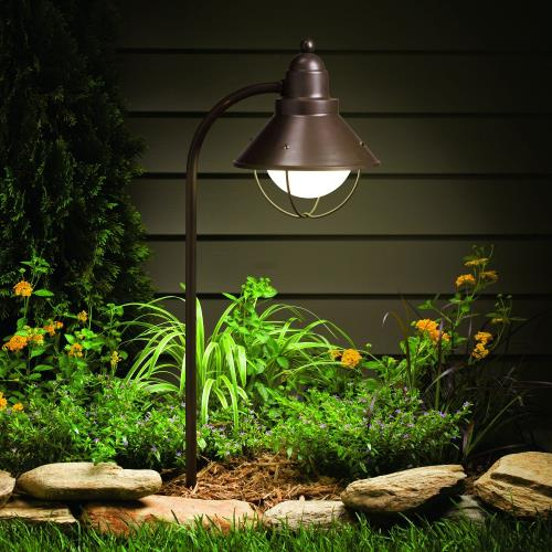 Kichler Lighting 15239OZ Seaside - Line Voltage 1 light Path and Spread - 8 inches wide