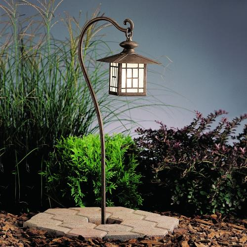 Kichler Lighting 15319PZ Mission - Low Voltage 1 light Path Lamp - with Transitional inspirations - 27 inches tall by 6.5 inches wide