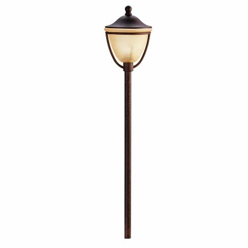 Kichler Lighting 15367TZT Low Voltage 1 light Path Lamp - with Contemporary inspirations - 26 inches tall by 5.5 inches wide