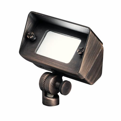 Kichler Lighting 15476CBR 1 light Flood Light - with Utilitarian inspirations - 4.25 inches tall by 2.5 inches wide