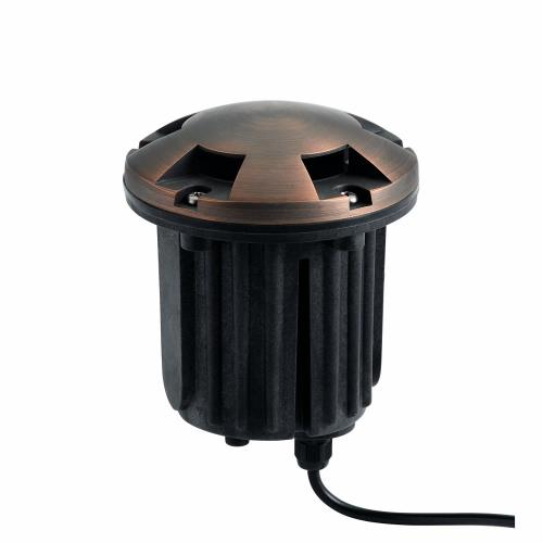 Kichler Lighting 15498CBR 1 light Inground Beacon - with inspirations - 5 inches tall by 5 inches wide