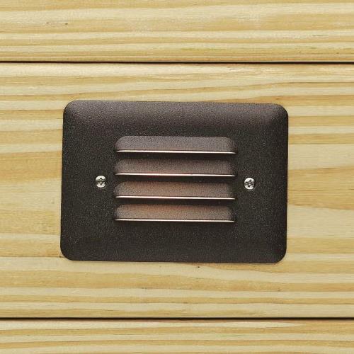 Kichler Lighting 15782 5 Inch 0.86W 1 LED Louvered Mini Step Light