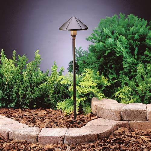 Kichler Lighting 15826 3W 3 LED Center Mount Path Light - with Utilitarian inspirations - 22.25 inches tall by 6 inches wide