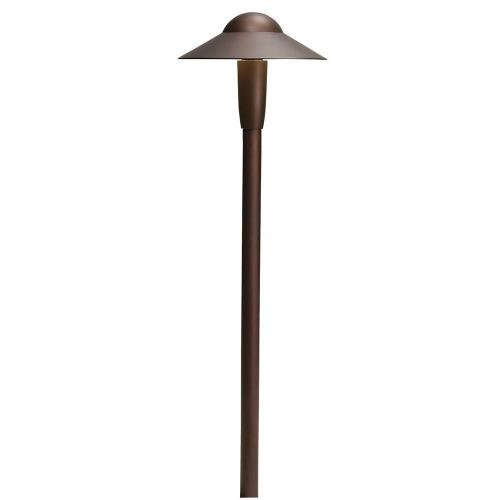 Kichler Lighting 15870 3W 3 LED Small Dome Path Light - with Utilitarian inspirations - 22 inches tall by 6.25 inches wide
