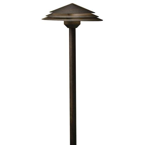 Kichler Lighting 16124 2W 3 LED Round Tiered Path Light - with Utilitarian inspirations - 21 inches tall by 8 inches wide